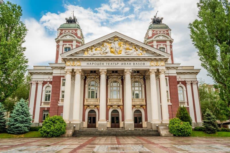 Ivan Vazov Theatre Sofia, Bulgarien royaltyfri fotografi