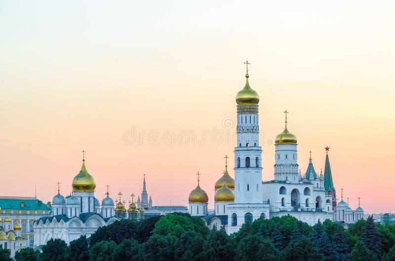 Ivan Wielki dzwonkowy wierza w Moskwa Kremlin, Rosja fotografia royalty free
