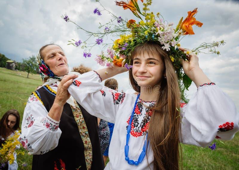 Ivana Kupala的传统斯拉夫的庆祝 库存照片