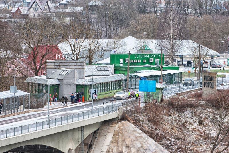 Ivangorod Россия Русский - эстонская граница стоковое фото rf