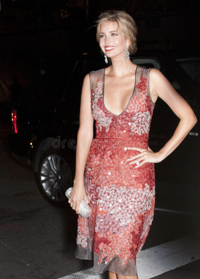 Ivanka Trump arriving to the Fashion Awards royalty free stock image