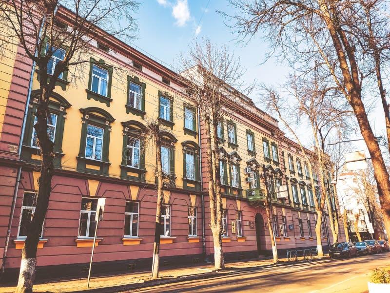 Ivano-Frankivsk, Ukraine - December 1, 2019: Architecture in the city center of Ivano-Frankivsk. Beautiful city.  royalty free stock photos