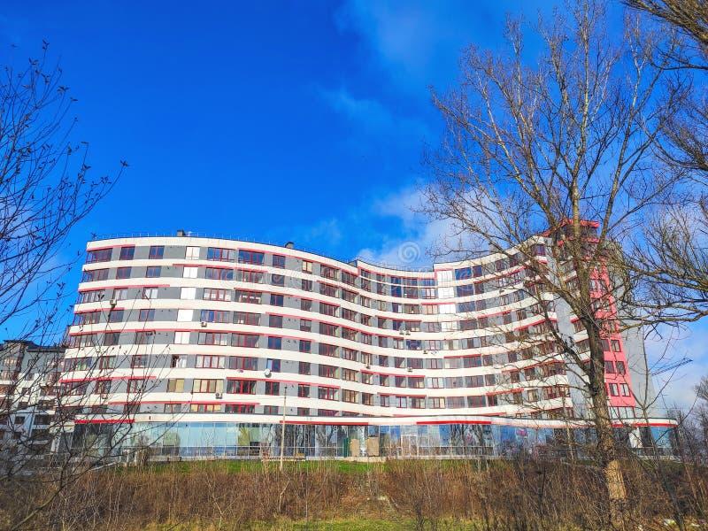 Ivano-Frankivsk, Ukraine - December 1, 2019: Architecture in the city center of Ivano-Frankivsk. Beautiful city.  stock photo