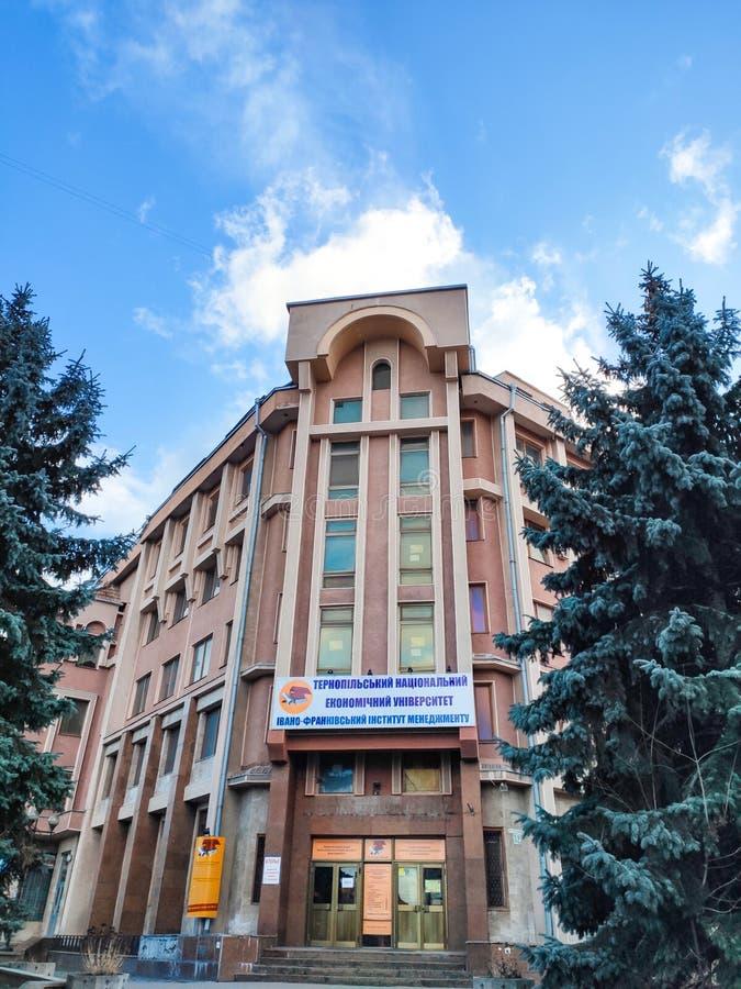 Ivano-Frankivsk, Ukraine - December 1, 2019: Architecture in the city center of Ivano-Frankivsk. Beautiful city. University of. Ivano-Frankivsk royalty free stock photos