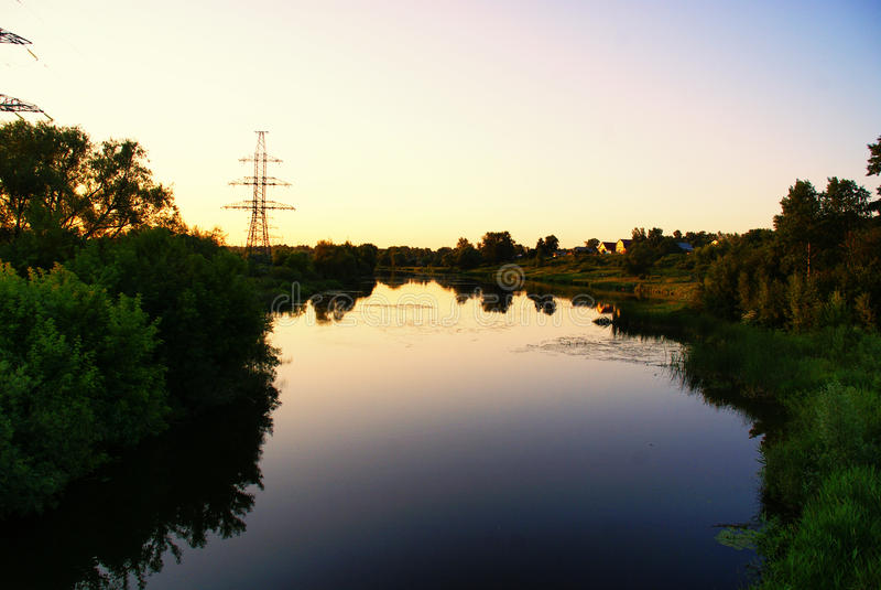 Ivanovo's river Uvod royalty free stock photo