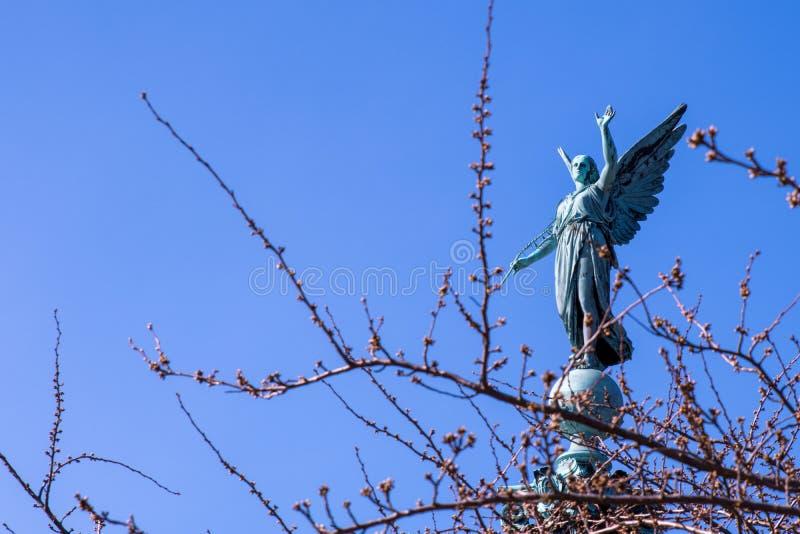 Iver Huitfeldt Memorial en el parque de Langelinie, en Copenhague foto de archivo libre de regalías