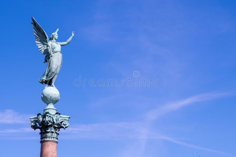 Iver Huitfeldt pomnik w Langelinie parku, Kopenhaga obraz royalty free