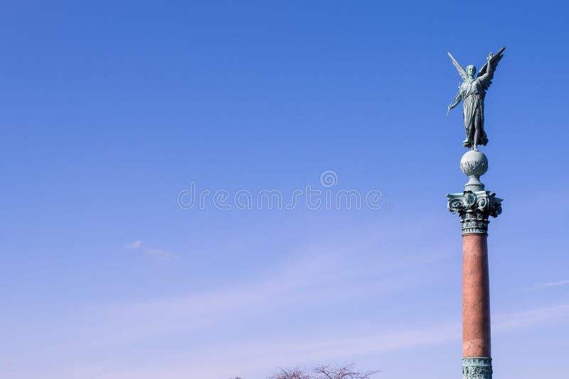 Iver Huitfeldt pomnik w Langelinie parku, Kopenhaga zdjęcie stock