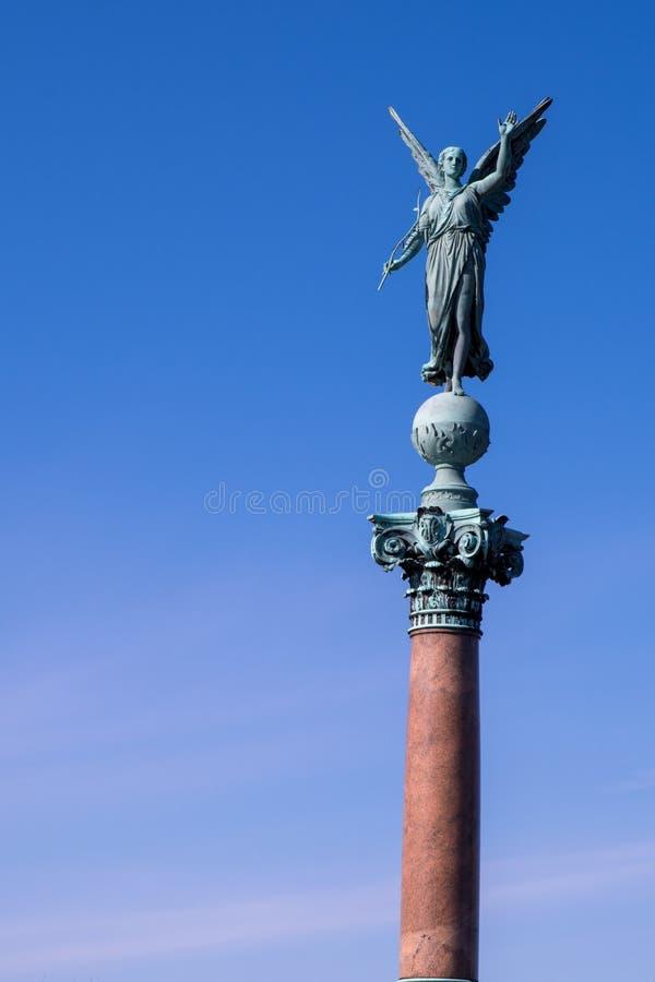 Iver Huitfeldt pomnik w Langelinie parku, Kopenhaga fotografia stock