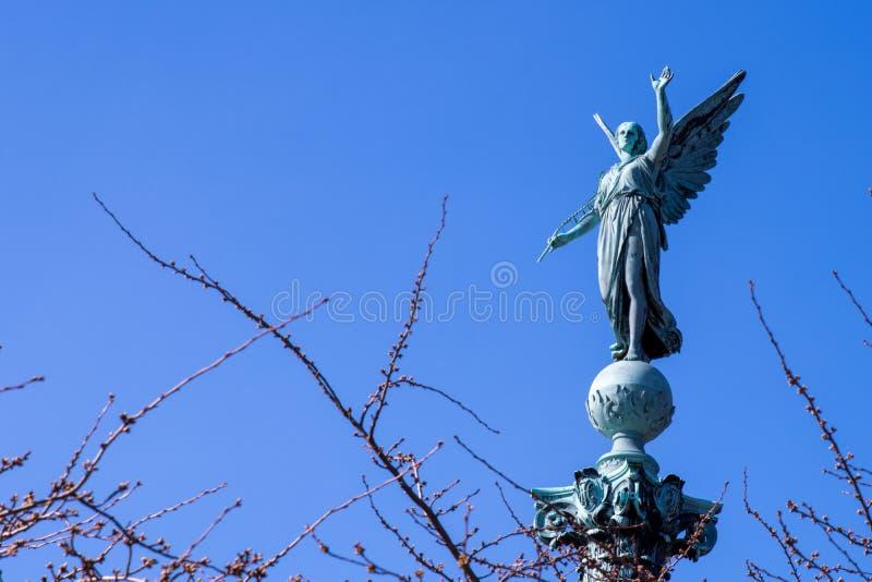 Iver Huitfeldt pomnik w Langelinie parku, Kopenhaga zdjęcia royalty free