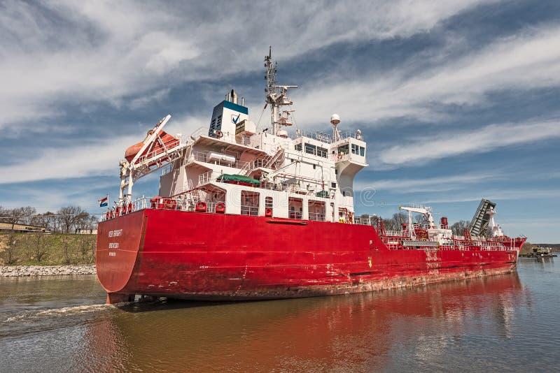 Iver Jaskrawy tankowiec obraz stock