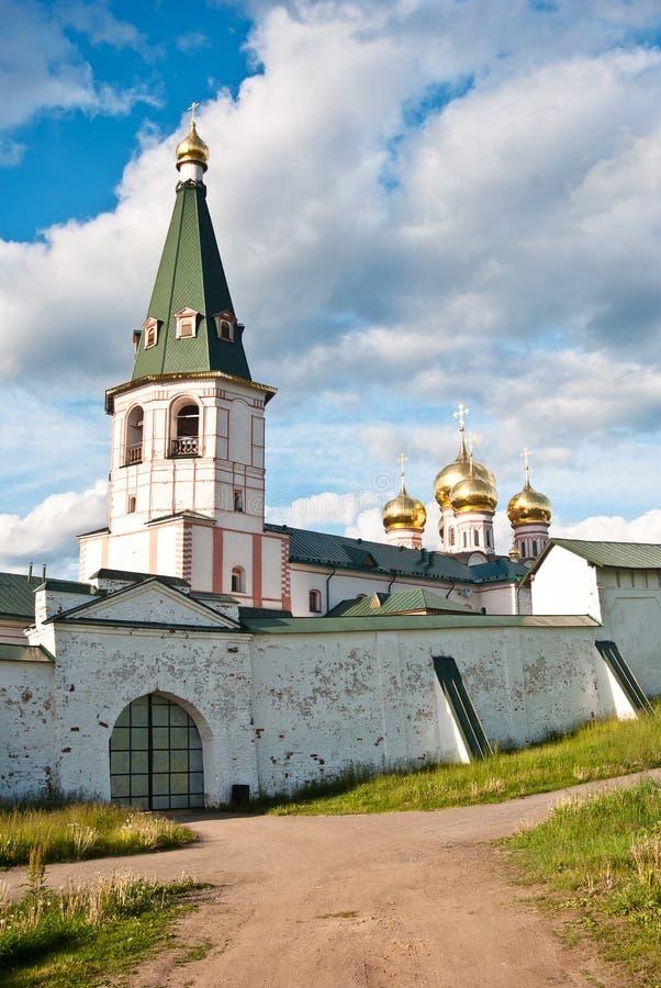 Iver Monastery, región de Novgorod imágenes de archivo libres de regalías