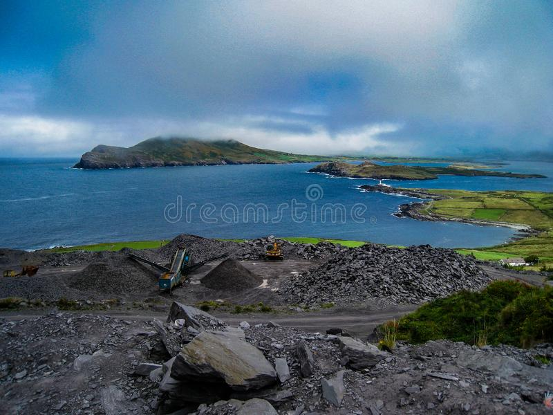 Iveragh de Valentia Island, manière atlantique sauvage image stock