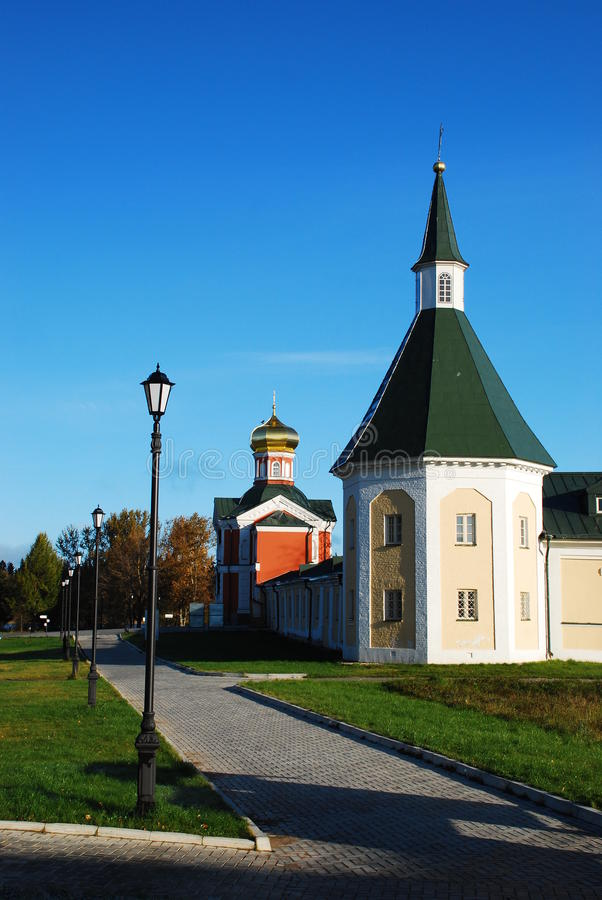 Iversky Christian monastery royalty free stock photography