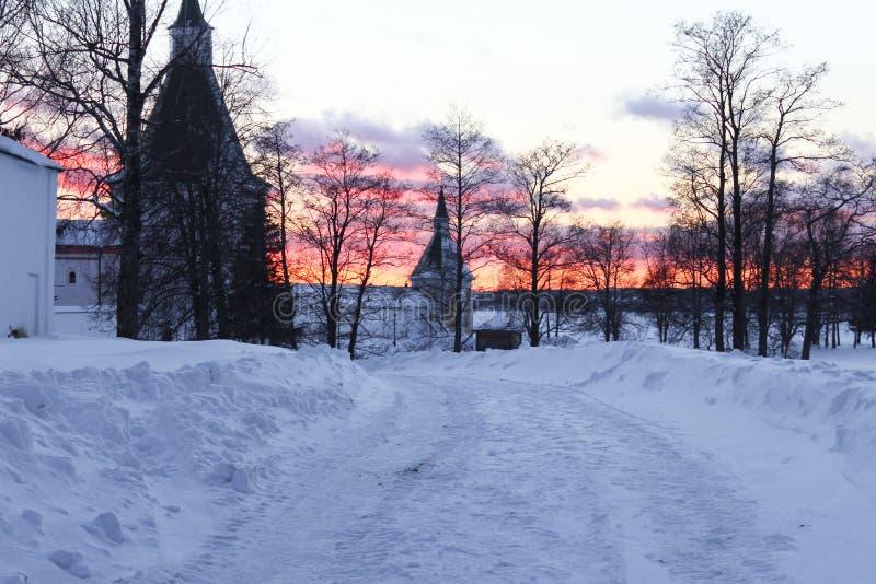 Iverskyklooster in Valdai royalty-vrije stock foto