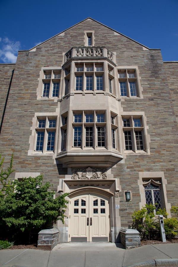 Ives Hall Entrance voor faculteit royalty-vrije stock afbeeldingen