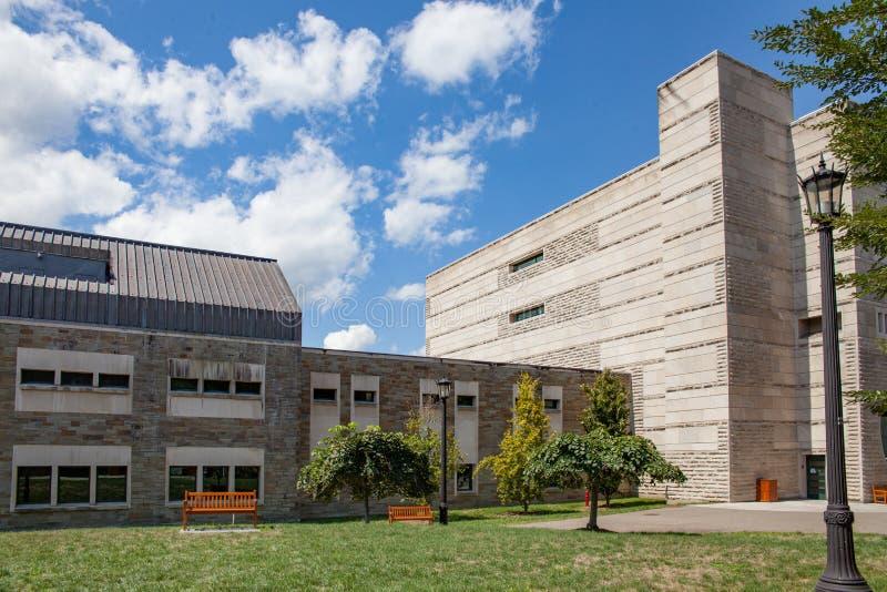 Ives Hall, Industrieel en Arbeidsverhoudingen ILR in Cornell University stock afbeelding