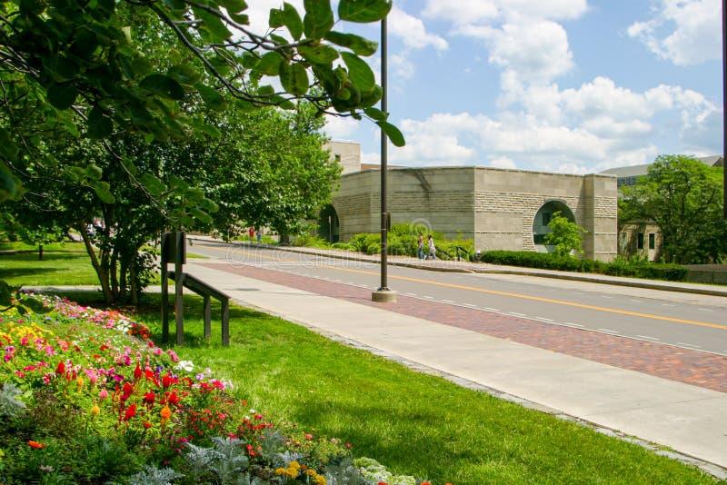 Ives Hall van over Torenweg op de Campus van Cornell University royalty-vrije stock foto's