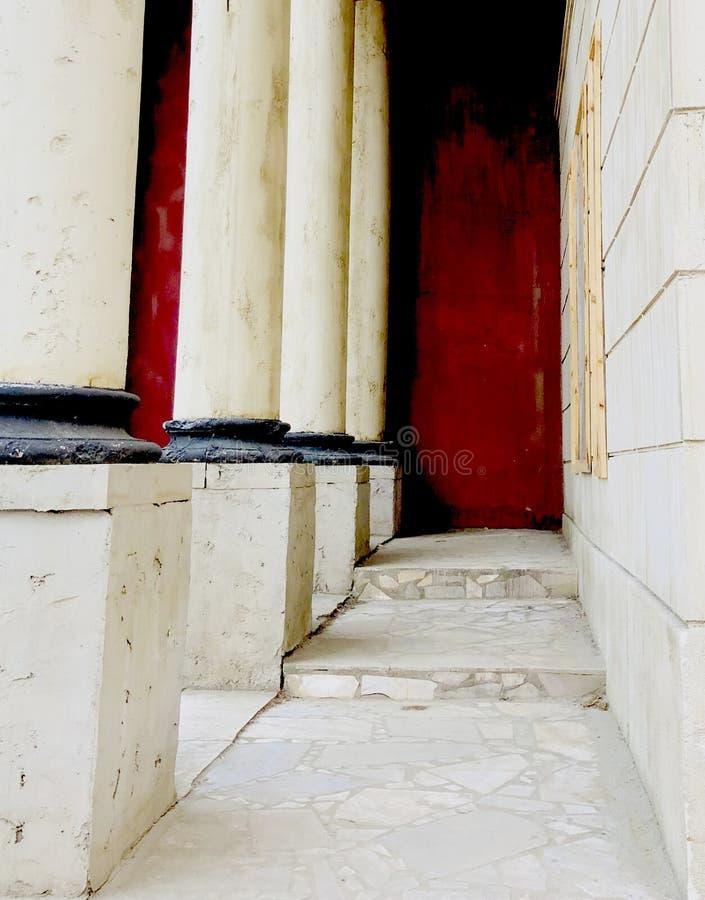 Ivoire de blanc de style romain de vintage de décoration de mur de Colorfull vieil image stock