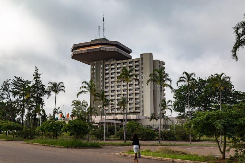 ` Ivoire di Yamoussoukro Costa d'Avorio Cote d dell'hotel di presidente immagini stock libere da diritti