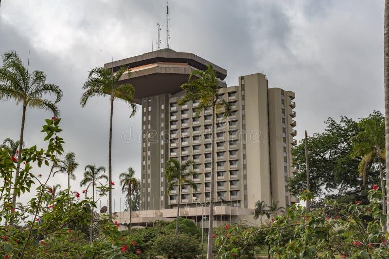 ` Ivoire för skjul D för presidenthotellYamoussoukro Elfenbenskusten royaltyfri foto