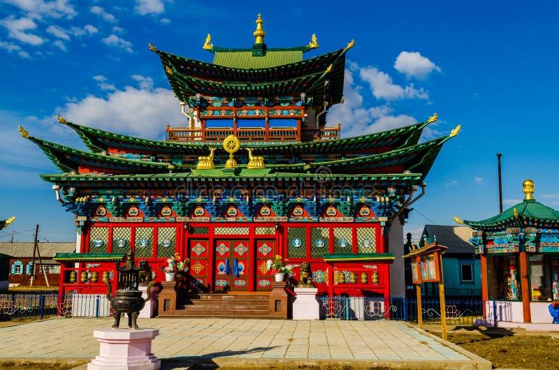Ivolginsky Datsan, Boeddhistisch Klooster stock foto's