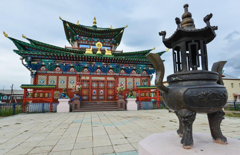 Ivolginsky Datsan, Boeddhistisch Klooster, Rusland stock afbeeldingen