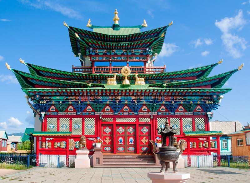 Ivolginsky datsan, Boeddhistische tempel royalty-vrije stock afbeeldingen