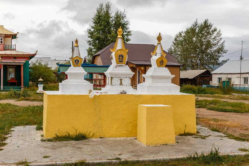 Ivolginsky datsan, Buryatia Rosja zdjęcie royalty free