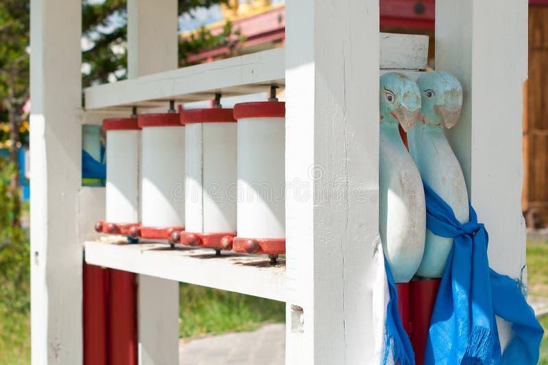 Ivolginsky datsan, modlitewni koła zdjęcia stock