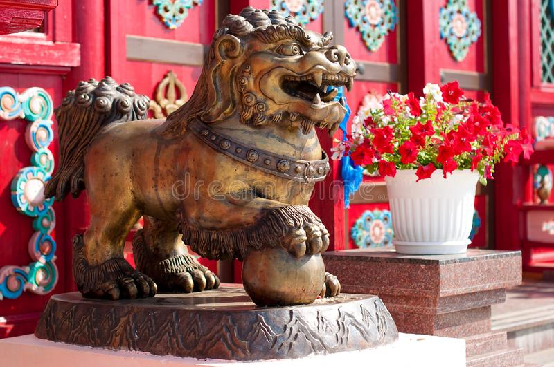 Ivolginsky datsan, snow lion. stock photos