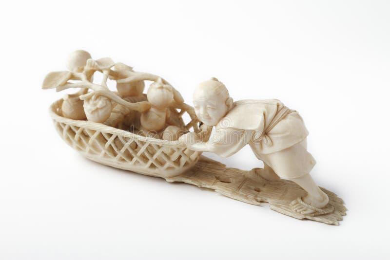 Download Ivory asian man stock photo. Image of ivory, pushing - 12695928