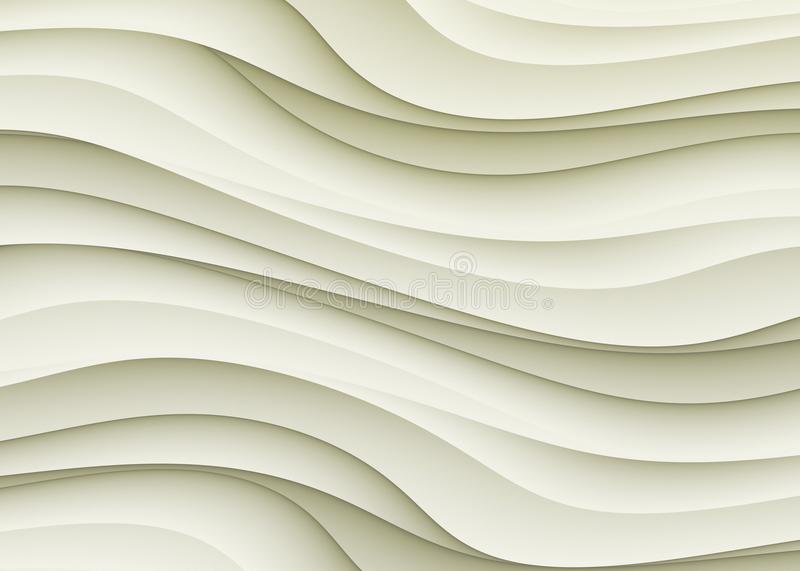 Ivory Beige Gray Curves Abstract Background Wallpaper Design. Layers of curve shapes in shades of ivory and soft beige gray cascade over each other in this royalty free stock photo