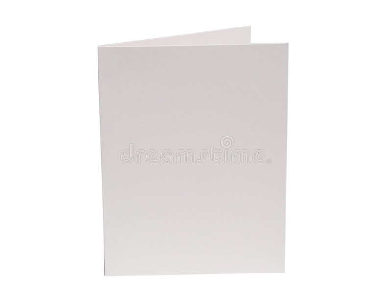 Ivory Blank Card royalty free stock photography