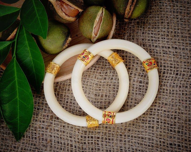 Ivory bracelets royalty free stock image