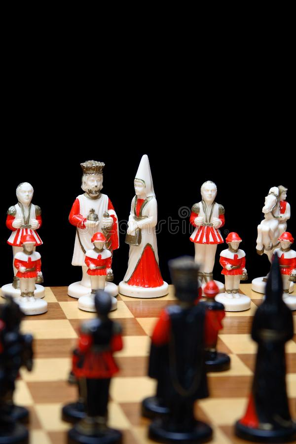Ivory chess pieces royalty free stock photography