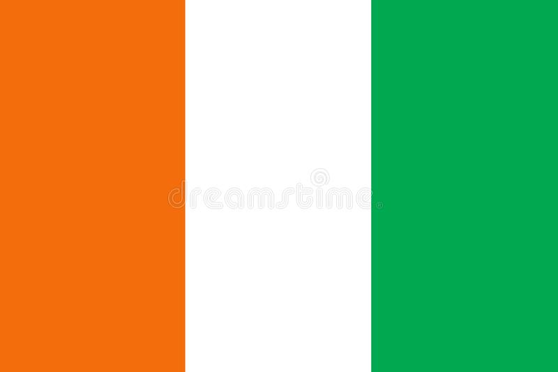 Ivory Coast country flag colors vector. Ivory Coast country flag colors in high resolution and eps vector available vector illustration