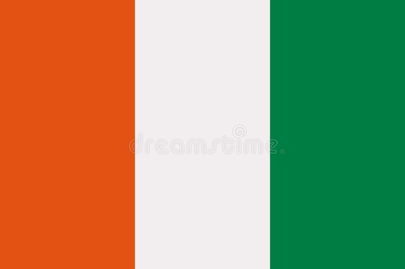 Ivory coast flag. Country vector royalty free illustration
