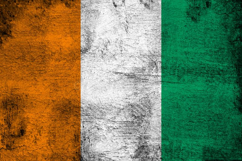 Ivory Coast. Grunge and dirty flag illustration. Perfect for background or texture purposes vector illustration