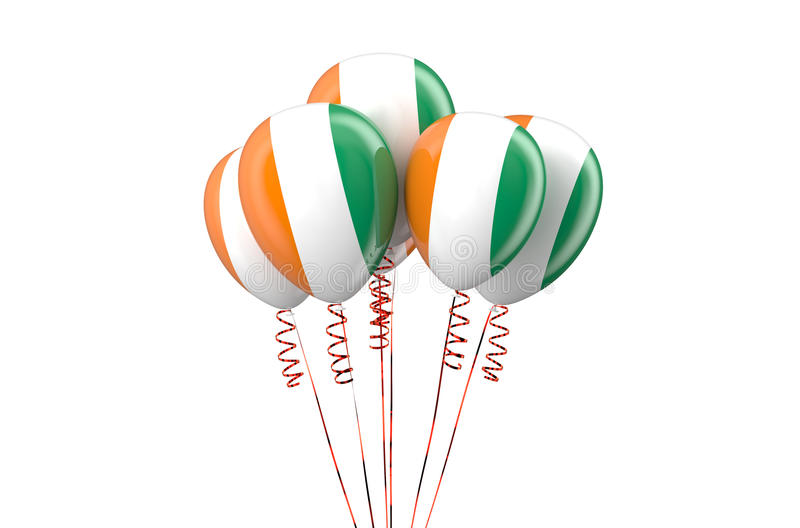 Ivory Coast patriotic balloons, holyday concept. Isolated on white background vector illustration