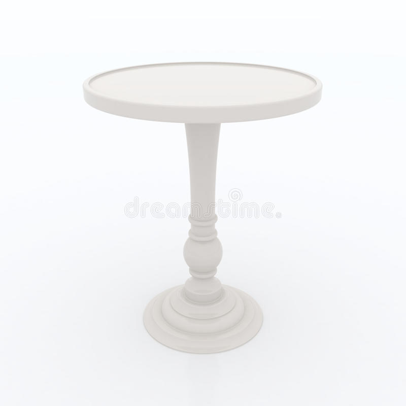 Ivory high top table. On white background stock illustration