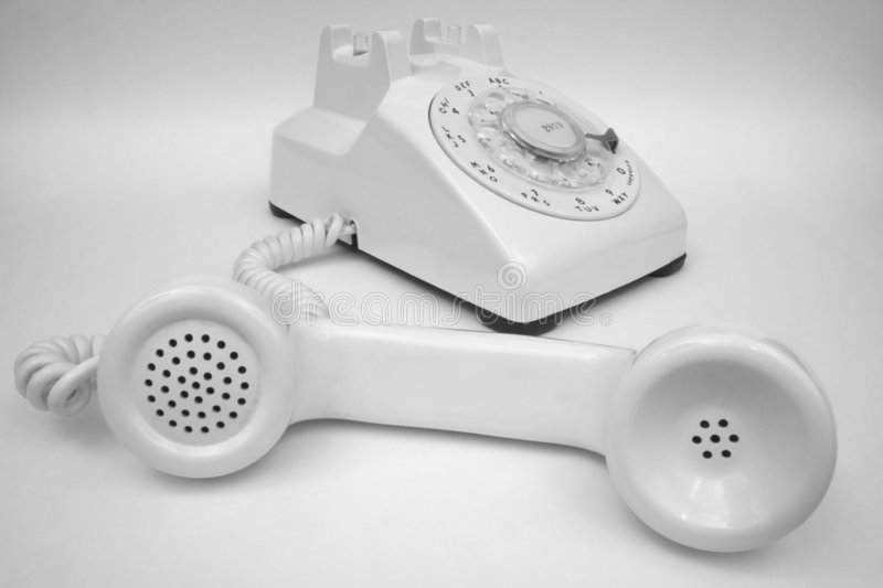 Download Ivory Rotary Phone Greyscale Stock Photo - Image of ring, rotary: 8164454