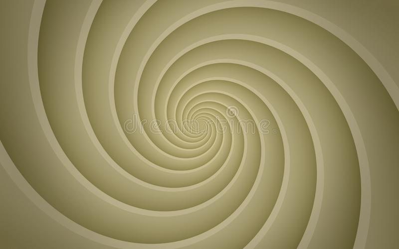 Ivory tan beige smooth spinning spiral abstract background wallpaper illustration. High resolution computer generated vector abstract background illustration royalty free illustration