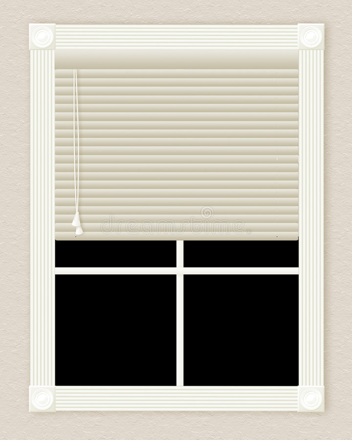 Ivory window stock illustration