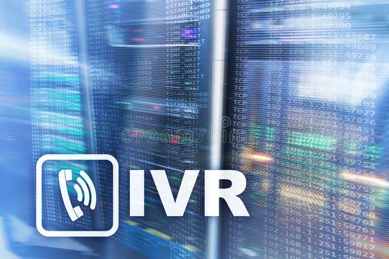 IVR交互式语音回应通信概念切断室 向量例证