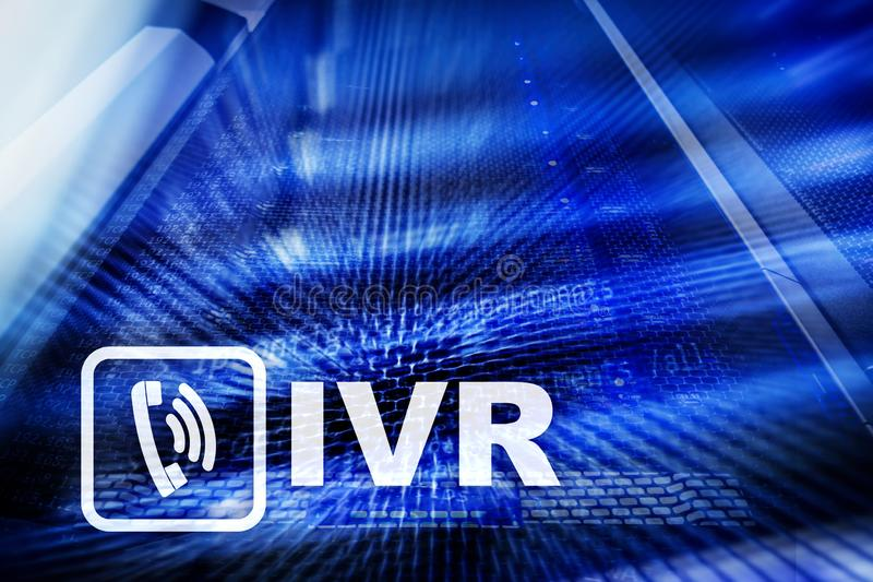 IVR Interactive voice response communication concept. servers data. Center royalty free illustration