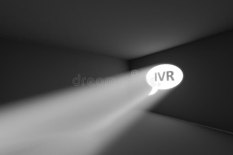 IVR rays il concetto della luce del volume illustrazione di stock