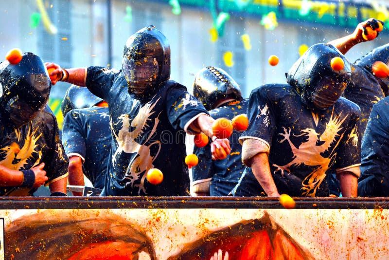 Ivrea do d de Carnevale imagem de stock royalty free
