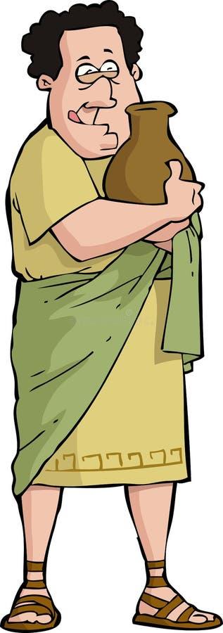 Ivrogne romain illustration stock