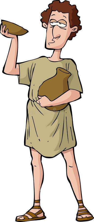 Ivrogne romain illustration de vecteur